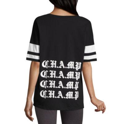 """Flirtitude """"Champ"""" Graphic T-Shirt- Juniors"""