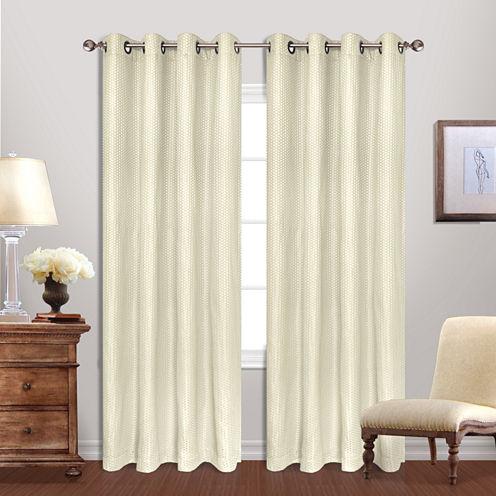 United Curtain Co Hamden Grommet-Top Curtain Panel