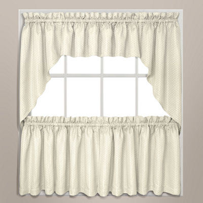 United Curtain Co Hamden Rod-Pocket Window Tiers