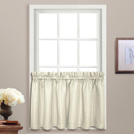 United Curtain Co Hamden Rod-Pocket Window Tiers