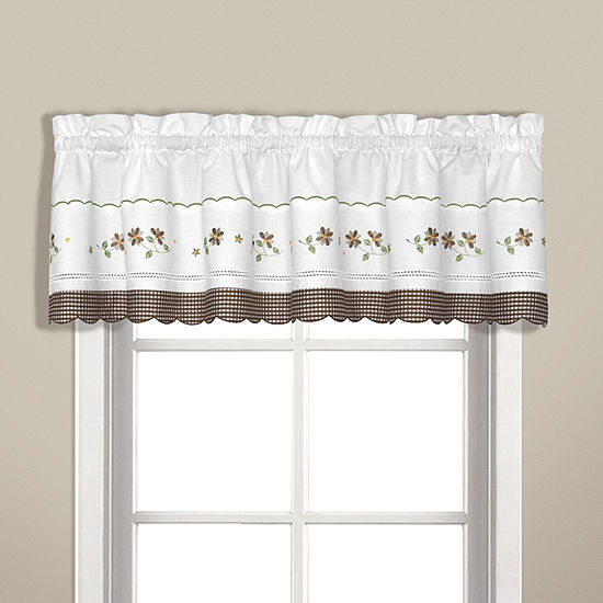 United Curtain Co Gingham Rod-Pocket Valance