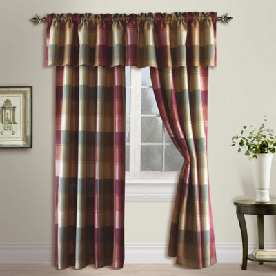 United Curtain Co Plaid Rod-Pocket Curtain Panel