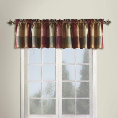 United Curtain Co Plaid Rod-Pocket Valance