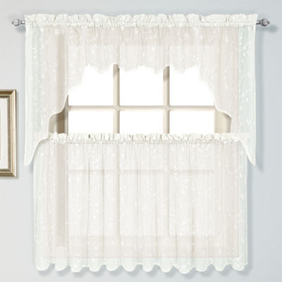 United Curtain Co Savannah Rod-Pocket Window Tiers