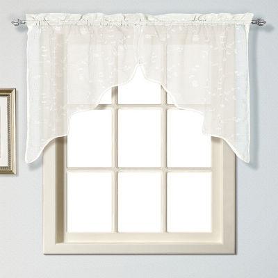 United Curtain Co Savannah Rod-Pocket Kitchen Valance