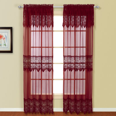 United Curtain Co Valerie Rod-Pocket Curtain Panel
