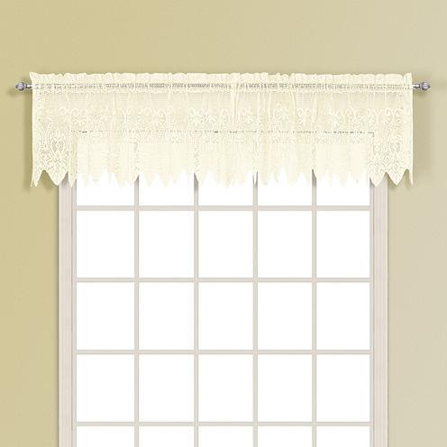 United Curtain Co Valerie Rod-Pocket Valance