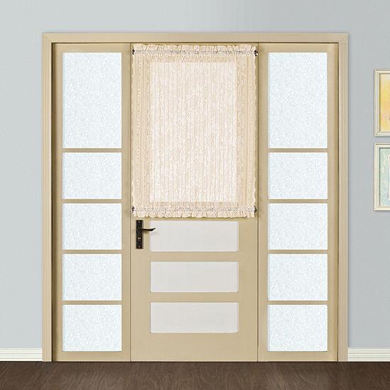 United Curtain Windsor Light-Filtering Rod-Pocket Single Door Panel Curtain