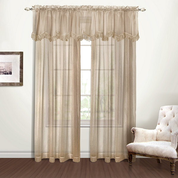 United Curtain Co Yvonne Rod-Pocket Valance
