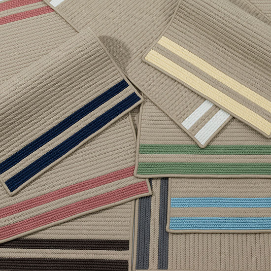 Colonial Mills Sonoma Accent Stripe Braided Rectangular Reversible Indoor/Outdoor Rugs