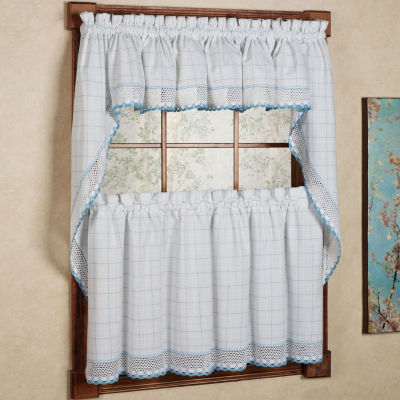 Adirondack Cotton Kitchen Window Curtain Set