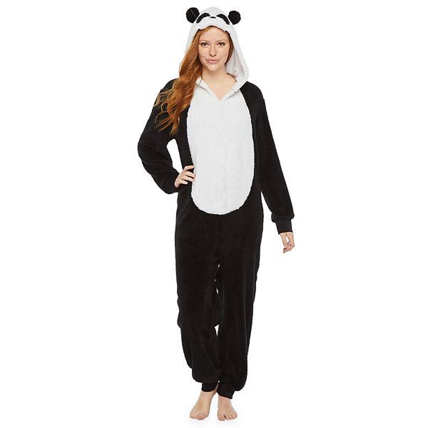 Mommy and Me Panda Critter One Piece Pajama - Womens