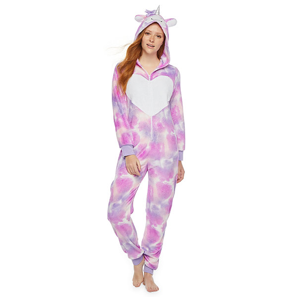 Mommy and Me Tie Dye Unicorn One Piece Pajama - Womens