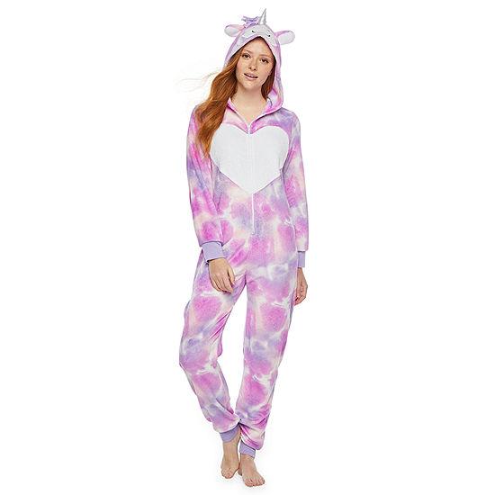 Mommy and Me Tie Dye Unicorn One Piece Pajama - Womens