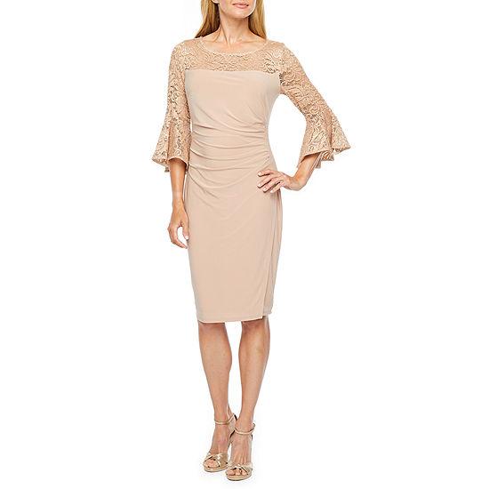 Blu Sage 3/4 Bell Sleeve Sheath Dress