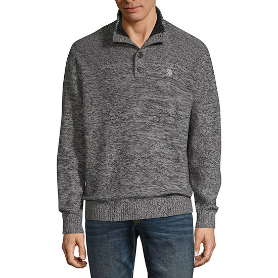 U.S. Polo Assn. Mock Neck Long Sleeve Pullover Sweater
