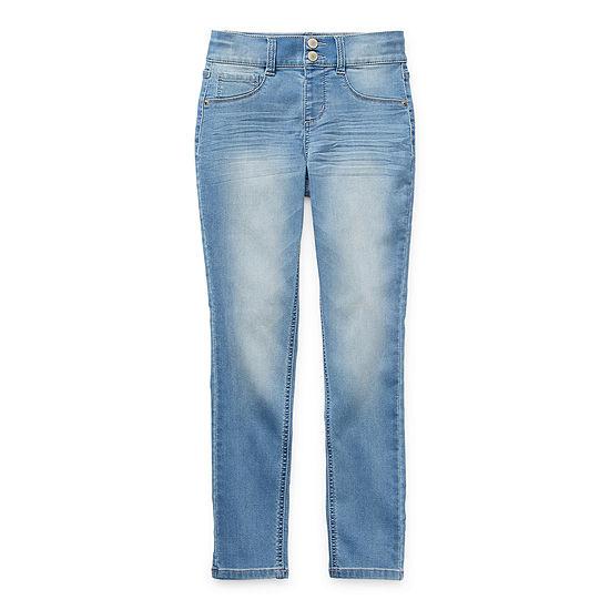 Arizona Stacked Waist Little & Big Girls Skinny Skinny Fit Jean