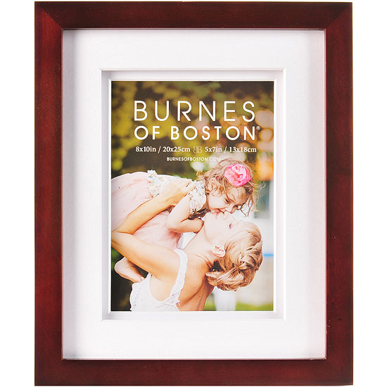 "Burnes of Boston® Gallery 5""x7"" Matted Picture Frame - Walnut"