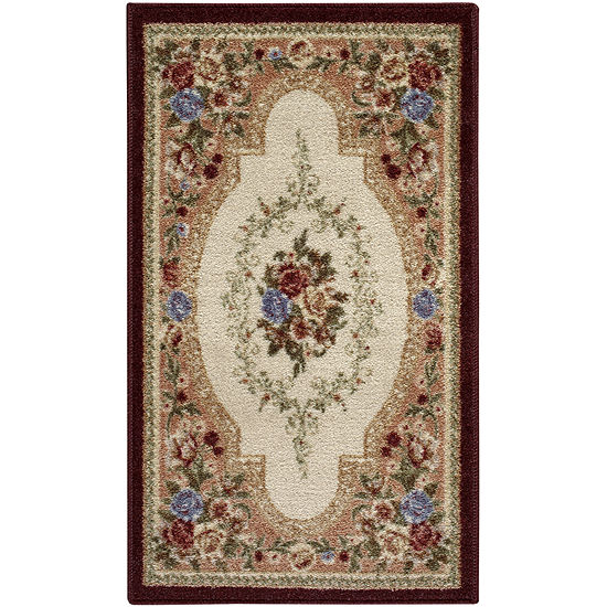 Estate Rose Washable Rectangular Area & Runner Rug