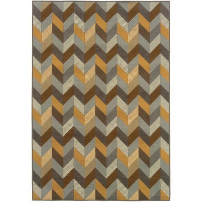 Covington Home Oblique Indoor/Outdoor RectangularRug