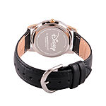 Disney Womens Black And Rose Gold Tone Vintage Mickey Strap Watch W002755