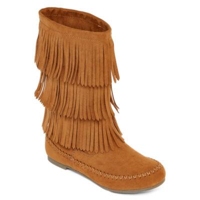 Arizona Tabby Girls' Fringe Boots - Little Kids
