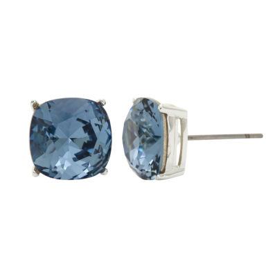 Sparkle Allure Blue 10mm Stud Earrings