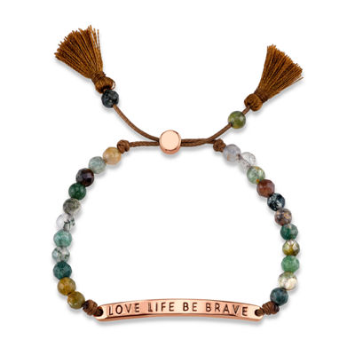 Footnotes Footnotes Womens Green Brass Bolo Bracelet