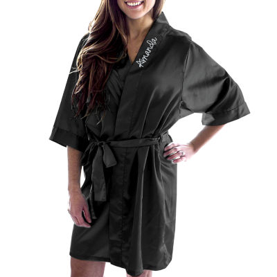 Cathy's Concepts Personalized Satin Satin Kimono Robes
