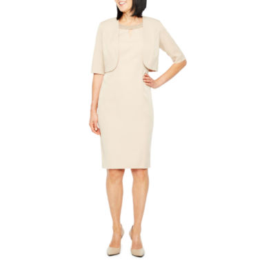 Maya Brooke Elbow Sleeve Jacket Dress