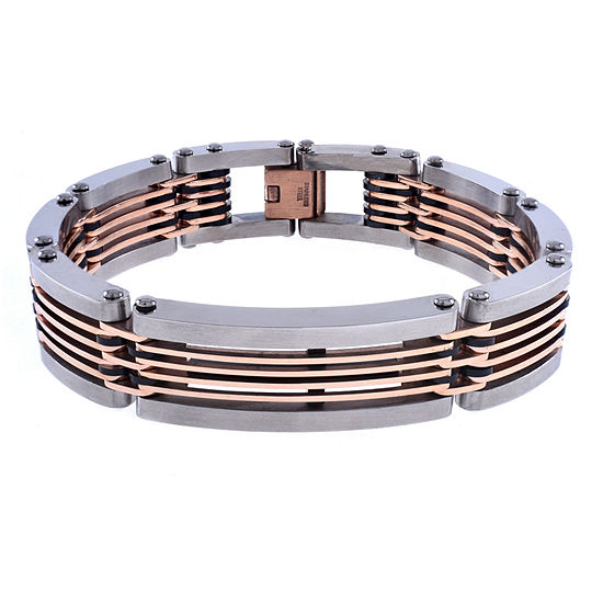 Stainless Steel 8 1/2 Inch Link Link Bracelet