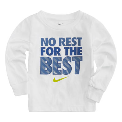 Nike Long Sleeve Crew Neck T-Shirt-Baby Boys
