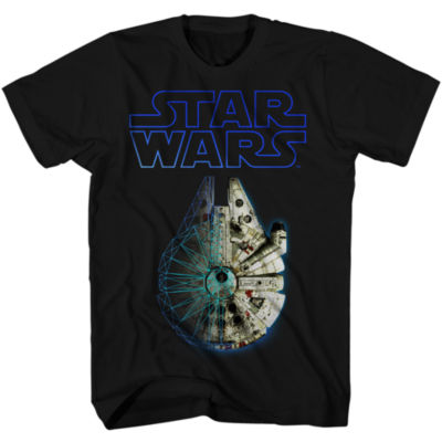 Boys Crew Neck Short Sleeve Star Wars Graphic T-Shirt-Big Kid