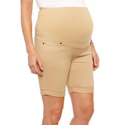 "Planet Motherhood 7"" Denim Bermuda Shorts - Maternity"