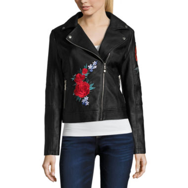Say What Spanish Rose Motorcycle Jacket-Juniors