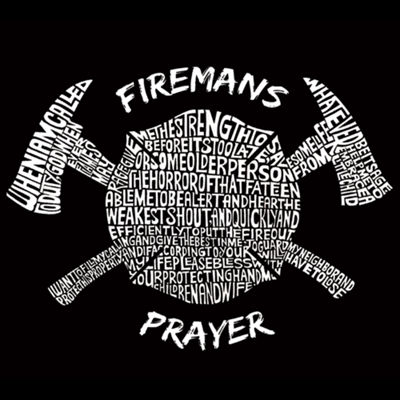 Los Angeles Pop Art Fireman'S Prayer Long Sleeve Graphic T-Shirt