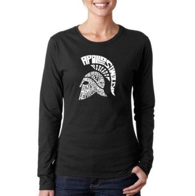 Los Angeles Pop Art Spartan Women's Long Sleeve Word Art Graphic T-Shirt
