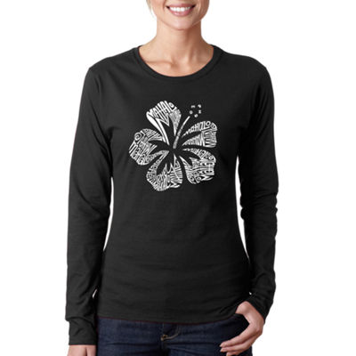 Los Angeles Pop Art Mahalo Long Sleeve Graphic T-Shirt