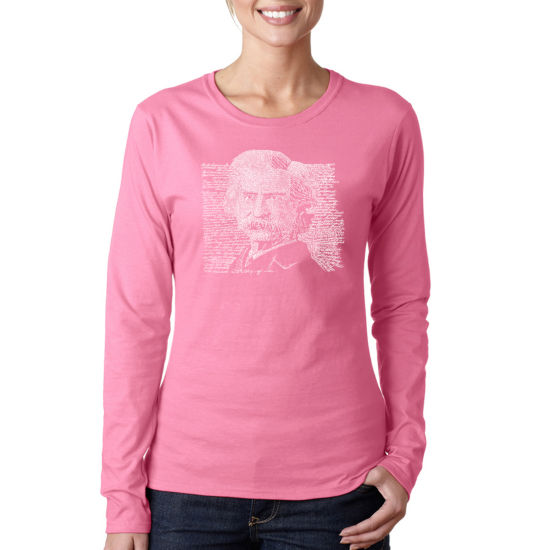 Los Angeles Pop Art Mark Twain Long Sleeve Graphic T-Shirt