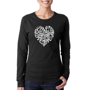 Los Angeles Pop Art Love Long Sleeve Graphic T-Shirt