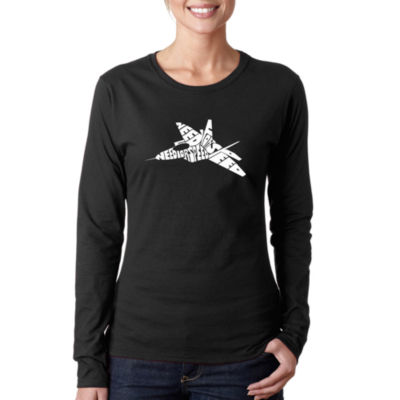 Los Angeles Pop Art Fighter Jet - Need For Speed Long Sleeve Graphic T-Shirt
