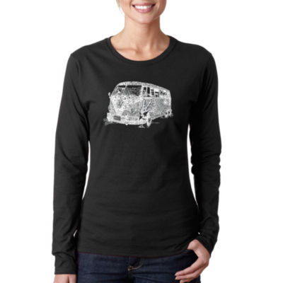 Los Angeles Pop Art The 70'S Long Sleeve Graphic T-Shirt