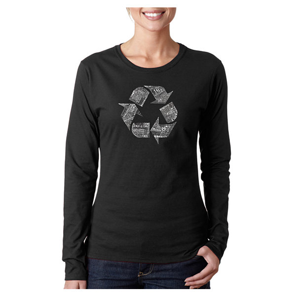 Los Angeles Pop Art 86 Recyclable Products Long Sleeve Graphic T-Shirt
