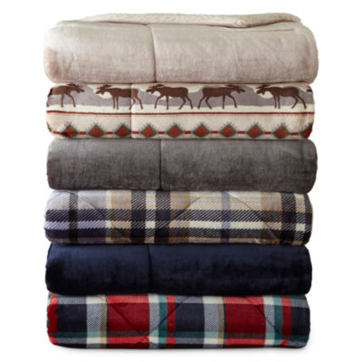 JCPenney Home Ultra Mink to Sherpa Throw