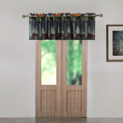 Greenland Home Fashions Black Bear Lodge Rod-Pocket Tailored Valance