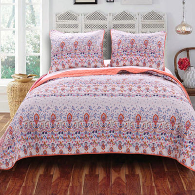 Barefoot Bungalow Amber Floral Quilt Set