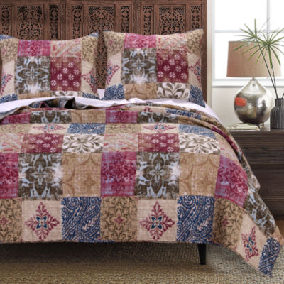 Greenland Home Fashions Charmed Jacquard Quilt Set
