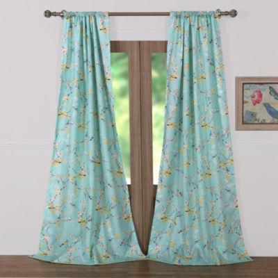 Barefoot Bungalow Cherry Blossom Rod-Pocket Curtain Panel