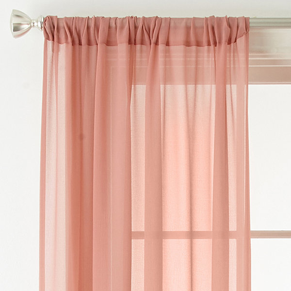 Liz Claiborne Tori Rod-Pocket Sheer Curtain Panel