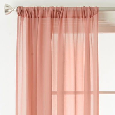 JCPenney Home Tori Rod-Pocket Sheer Curtain Panel